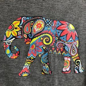 Gray Angkor Elephant Tee